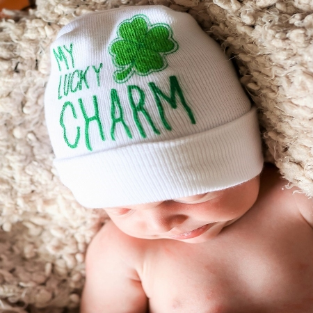 St. Patrick's Day Newborn Two-Ply Hat #BC-SHAM