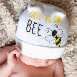 Cute As Can Bee Newborn Two-Ply Hat #BC-BEE