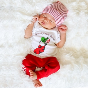 Baby's First Christmas Outfit #FO-